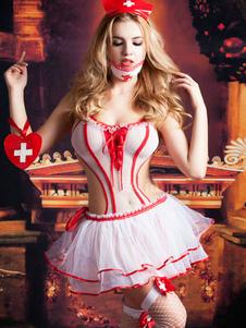 Хэллоуин сексуальная медсестра костюм женщин многопользовательский бельё Дамское наряд Хэллоуин
