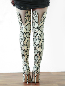 Botas Sobre o joelho para street wear chique & moderna 4.7