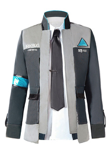 Детройт Become Human Connor Halloween Cosplay Coat Suit Version