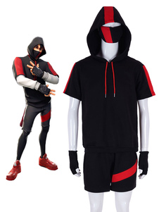 Fortnite Ikonik skin Game Cosplay Costumes Carnival Pullover Hoodie And Shorts Set iconic skins
