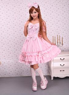 Sweet Rose Lotila OP robe et Cape avec des arcs et des volants Déguisements Halloween