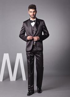 Klassischer Herren Smoking aus Sarin in Schwarz für Hochzeit