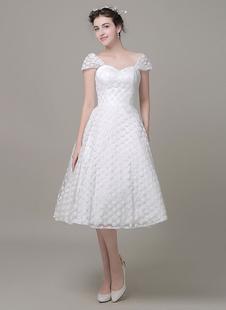 Милая свадебное платье тюль онлайн колен свадебное платье