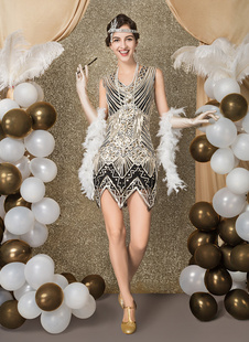 Flapper Dress 1920s Fashion Vintage Style Costume Black Great Gatsby Party outfits