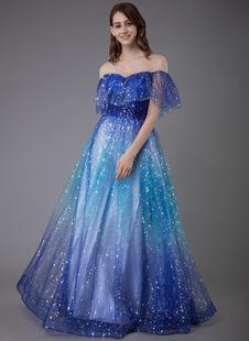 Платье выпускного вечера 2021 Созвездие платье из тюля с V-образным вырезом на шнуровке с коротким рукавом длиной до пола, вечерние платья
