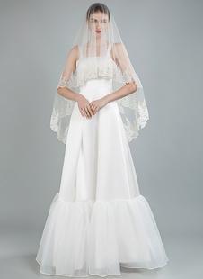 Simples vestido de noiva quadrado mangas babados a linha até o chão vestidos de noiva de cetim