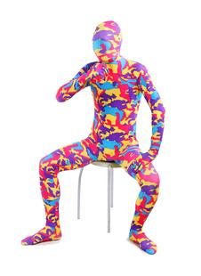 Многоцветные печати Лайкра Спандекс леотард полностью Зентай Костюм для Хэллоуин  Хэллоуин