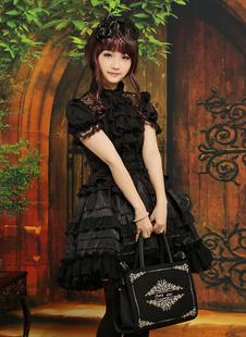 Gothique tenue de Lolita avec multicouches Déguisements Halloween
