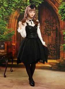Trajes de bicolor de mangas largas de estilo de Lolita