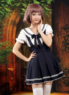 Trajes de bicolor de manga corta de estilo de Lolita