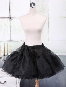Enagua Negra Organza A-line Lolita