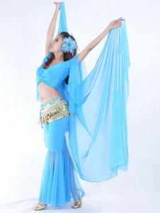 Голубая вуаль вискоза женский танец живота рука