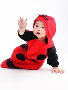 Disfraz de niños Carnaval Traje para disfraz de mariquita roja de Halloween para bebé Halloween Disfraz Carnaval