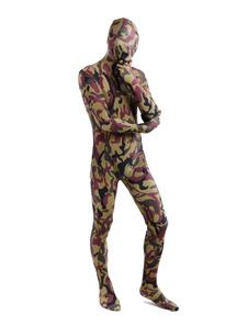 Costume Carnevale Hunter Green Camouflage Lycra Spandex Full Body Suit Zentai