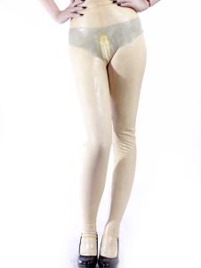Disfraz Carnaval Pantalones de látex blanco Halloween Carnaval