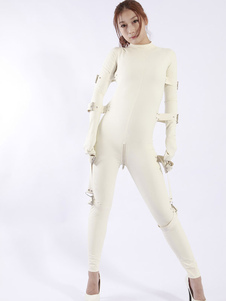 Latex Catsuit nas únicas mulheres brancas Halloween