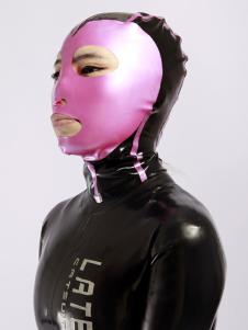 Bloqueio látex unissex Catsuit Zentai & capa de cor Halloween