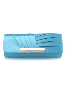 Casamento azul Glitter de bolsa bolsa Ruched