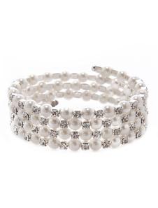 Элегантный белый жемчужина свадебный браслет для невест
