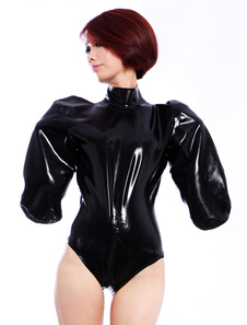 Látex Clothes(without sleeve opening) exclusivo um pedaço da mulher negra Halloween