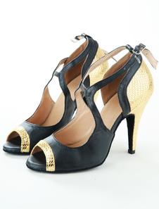 Clássico peixe imprime latino de sapatos de couro do plutônio