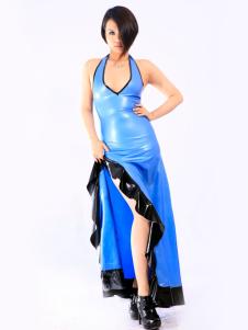 Multi cor lado Split Unisex látex vestido Halloween