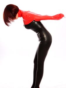 Espartilho Unisex de látex vermelho acessório exclusivo Latex  Halloween