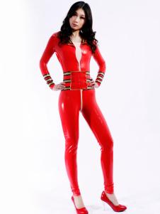 Modelagem Multi cor Unisex Bodysuit Latex Catsuit