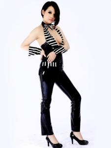 Modelagem Multi cor despojado Unisex macacão de látex Halloween