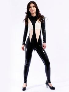 Exclusivo Multi cor Unisex Bodysuit Latex Catsuit