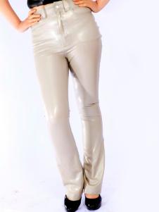 Costume Carnevale Grigio Unisex Skinny unico lattice Leggings