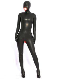 Bodysuit Sexy Latex Catsuits Halloween Preto Completo Halloween