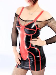 Costume Carnevale Vestito in lattice unica Unisex moda Multi colore