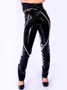Disfraz Carnaval Pantalones de látex negro Halloween Carnaval