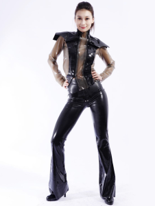 Cool Multi cor Unisex Bodysuit Latex Catsuit Halloween