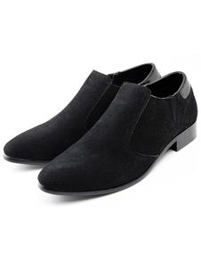 Sapatos de couro camurça Preto elegante Casual para homens