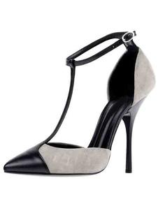 Zapatos de baile de mujer 2020 tacones altos punta puntiaguda Tipo T de 1920 vintage