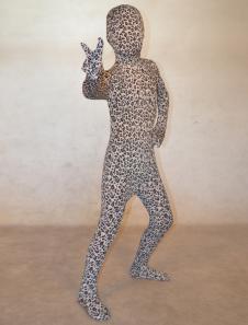 Модные белые унисекс леопарда печати лайкры спандекс лайкра животных Зентаи костюмы  Хэллоуин