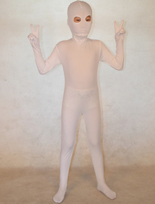 Специальный белый унисекс лайкры спандекс Unicolor Зентаи костюмы  Хэллоуин