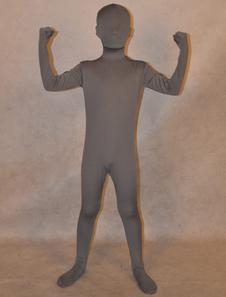 Глубокий серый унисекс лайкры спандекс прохладно Unicolor Зентаи костюмы для малышей  Хэллоуин