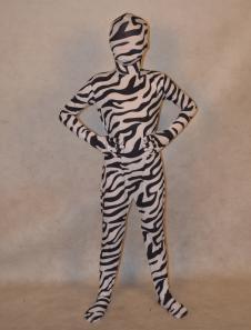 Мульти цвет унисекс зебра печати лайкры спандекс специальных лайкра Kid Зентаи  Хэллоуин