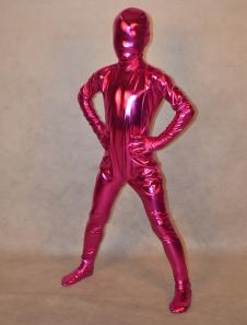 Фуксия блестящие металлические тела унисекс Kid Хэллоуин Зентаи  Хэллоуин