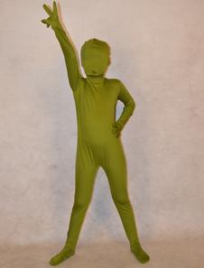 Зеленая охотничья унисекс лайкры спандекс Unicolor Зентаи костюмы для малышей  Хэллоуин