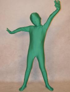 Темно зеленый унисекс лайкры спандекс моды Unicolor Зентаи костюмы для малышей  Хэллоуин