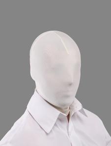 Белый Unicolor унисекс лайкры спандекс косплей вытяжки Хэллоуин