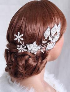 Pérolas de Metal luxo gancho de cabelo do casamento