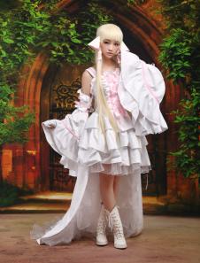 Chobits Chii Halloween Cosplay Disfraz Blanco Vestido Lolita Halloween