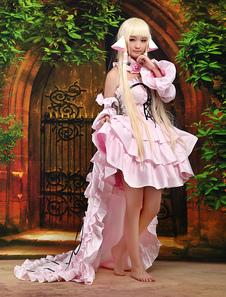 Disfraz Carnaval Chobits Chii Halloween Cosplay Disfraz Rosa Dulce Vestido Lolita Halloween Carnaval