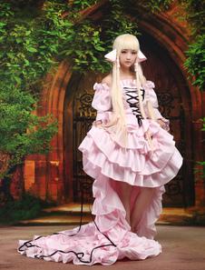 Chobits Chii Halloween Cosplay Disfraz Rosa Dulce Vestido Lolita Halloween