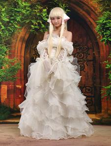 Traje de color blanco de Chii para cosplay de Chobits